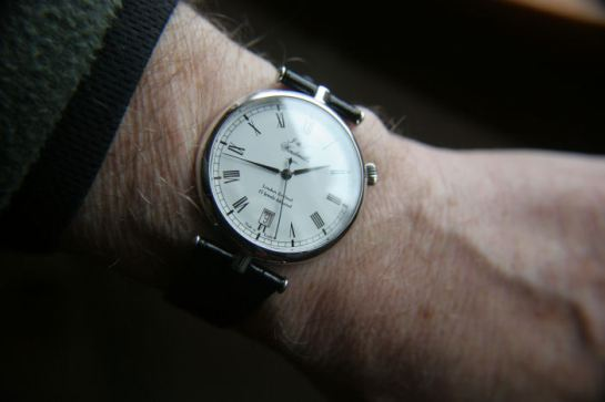 On the wrist - perfect!