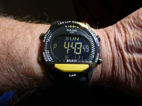 Watch of the week - the Pulsar Race - the scrolling display model.