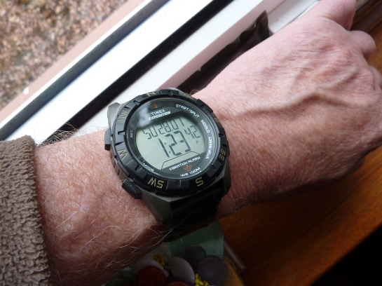 Timex Expedition Vibration Alarm model.