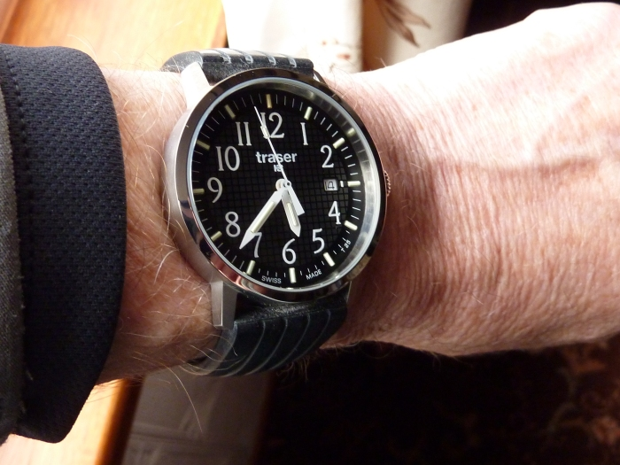 """The Traser """"Classic Basic Black"""" watch"""