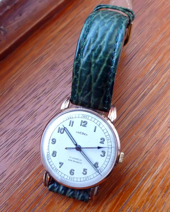 Swiss Trebex 9ct Gold Gents watch 1928 vintage.