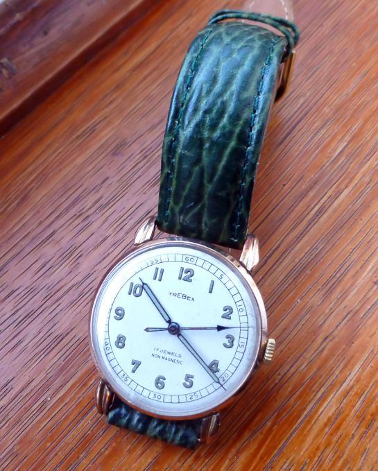 Swiss Trebex 9ct Gold Gents watch 1928 vintage.