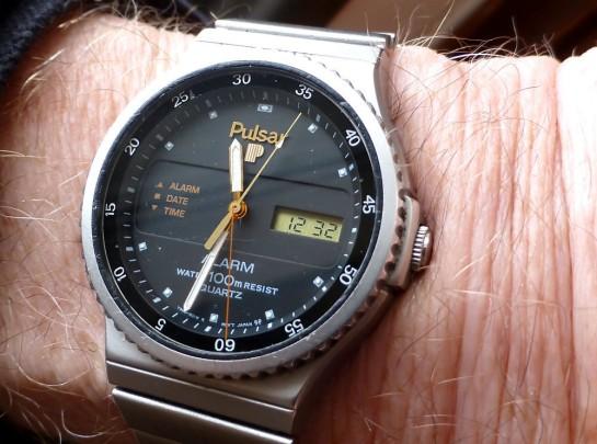 Pulsar ana/digi Alarm Date watch from 1985