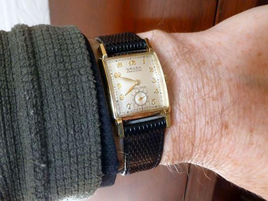 Gruen Veri-Thin 1940's gents watch