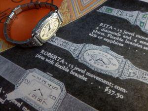 "Identified Bulova ""Roberta"" vintage 1928 cocktail watch"