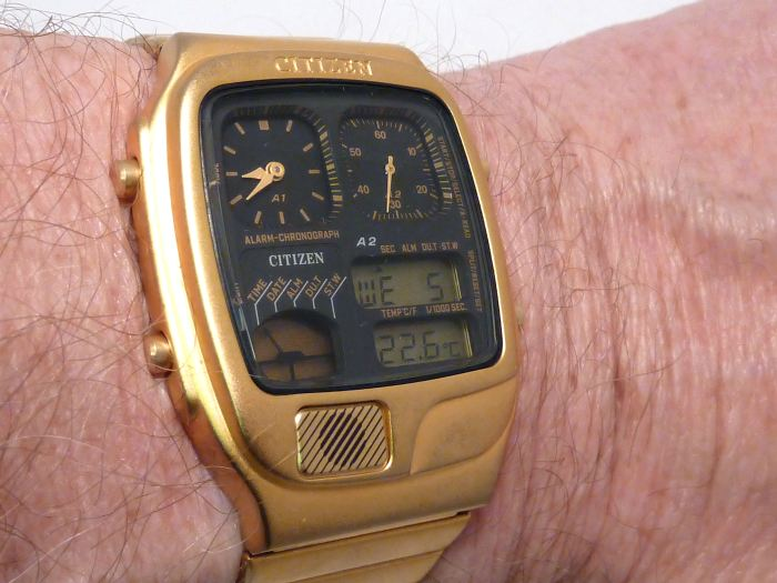 On the wrist - slim, sleek, light and looks the part.