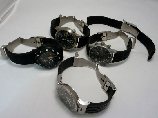 Examples of deployment fitted watches