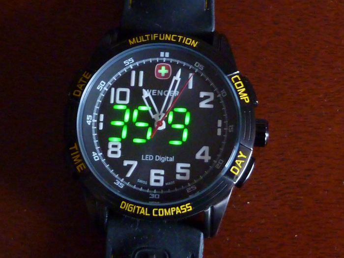 Compass reading 359º - shows direction for 30 seconds.