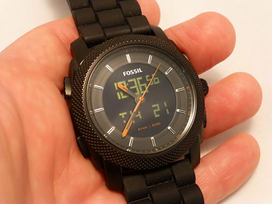 Fossil Machine Black Alarm FS4682 Ana/Digi Watch