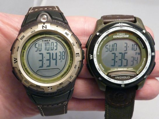 The T42761 (rt)  Digital Compass smaller and lighter than T42761 (left)