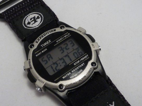 1998 Timex Expedition digital display normal daylight.