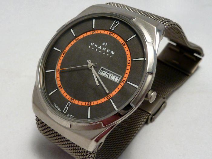 Skagen Aktiv Titanium Day/Date Watch SKW6007