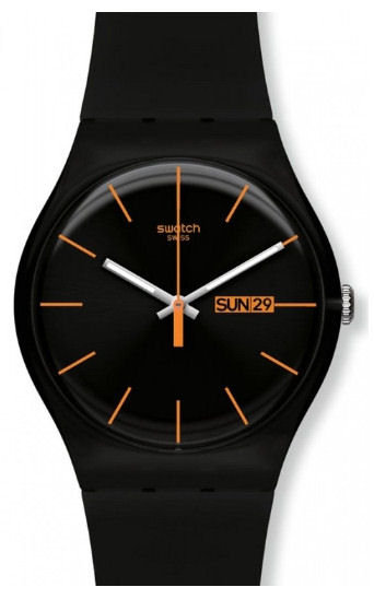"Swatch Black ""Rebel"" designer Day Date."