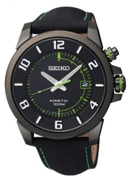 SKA557P1 dark drown coated Stainless kinetic from Seiko