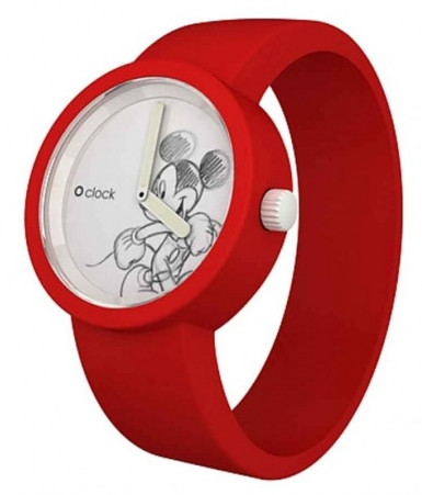 Oclock Watch - Mickey Mouse in red. Model OCD02.