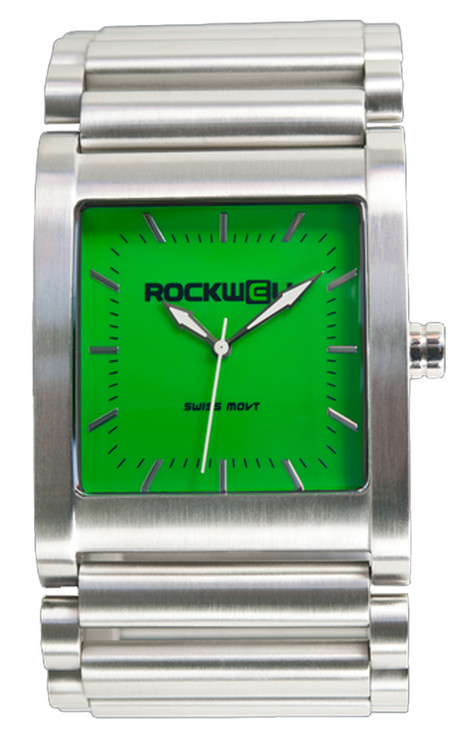Rockwell Stainless Green dial Swiss Quartz