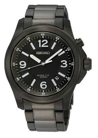 Seiko Kinetic SKA465P1 Black stainless - no frills favorite