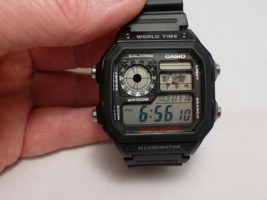 Brilliant Casio World Timer Alarm Watch AE-1200WH-1AVEF