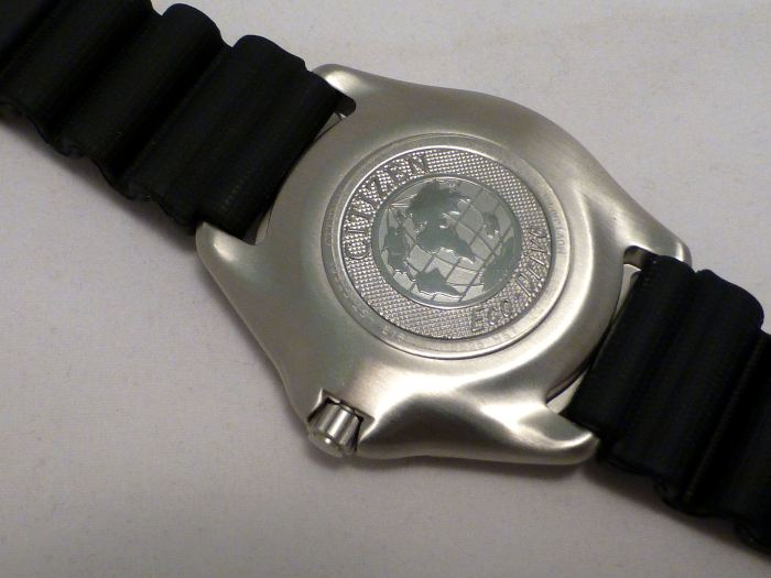 One piece mono-bloc stainless steel case - (no removable back).