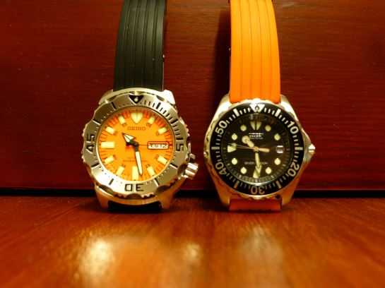 Dial & markers size differences. The Seiko is much larger.