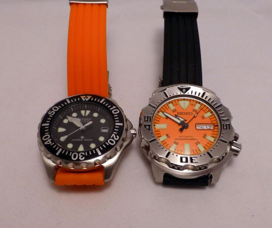 Comparative sizes - Citizen versus Seiko