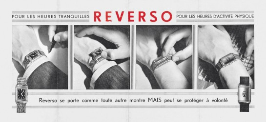 Advert for the original Reverso