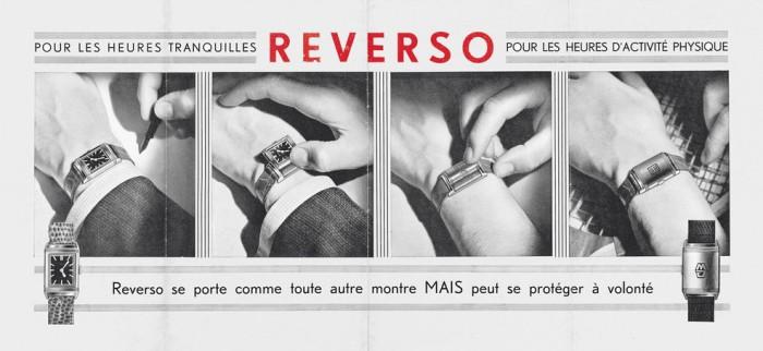 Advert for the original Reverso
