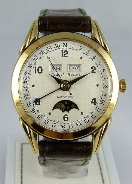 Unusual Jaquet Baume Triple Date vintage model