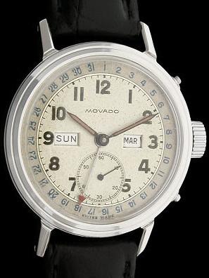 Classic vintage Movado Triple Date Calendar