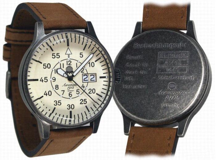 Case back info: Observer Hawk design - 50m Depth Rated.