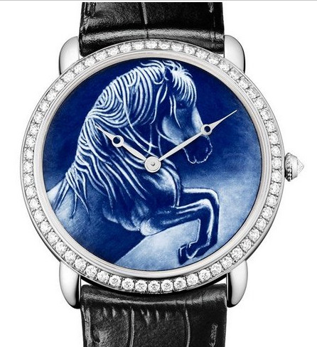 Cartier - enamelling technique called grisaille of an Andalusian horse