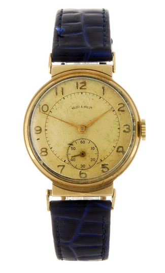 Walker & Hall Gents 9ct dress watch - 1937?
