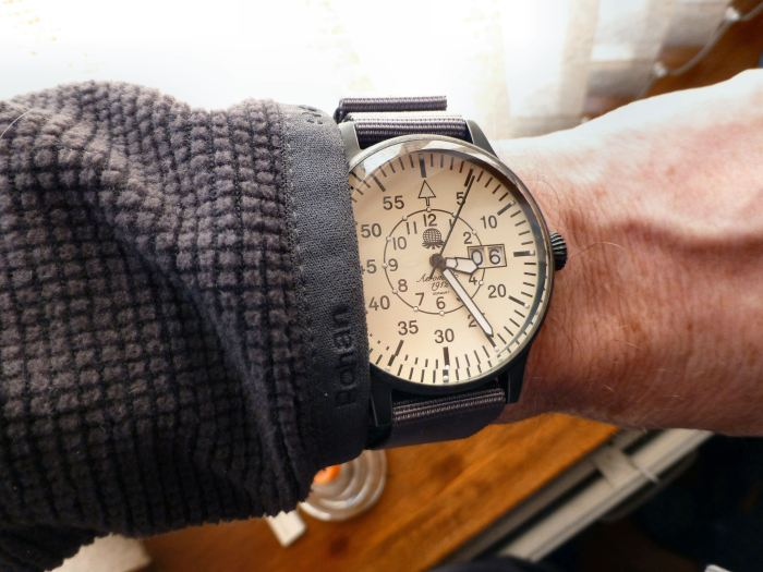 Aeromatic, Nato strap and wrist. Looks quite big.