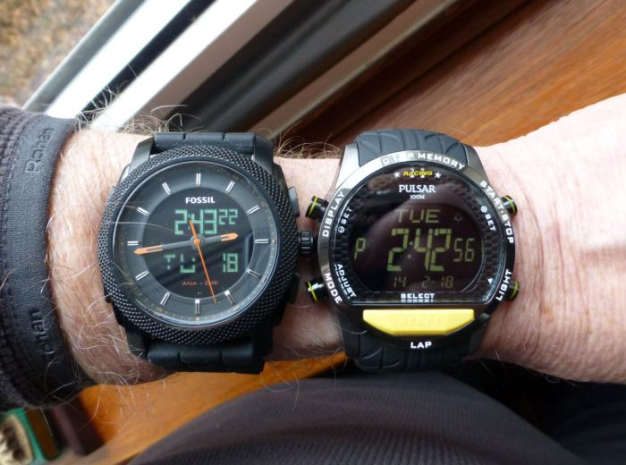 Comparison to Fossil with similar display set.