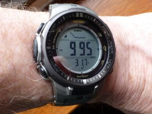 Casio current ABC watch. But pre-owned? Probably under £80