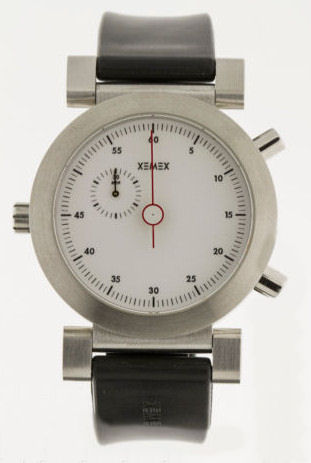 """The chronograph """"reversed"""" side for excellent clarity."""