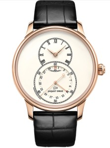 My favorite - proper Jaquet Droz elegance - and as it should be