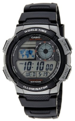 Casio AE1000W-1B World Time 48 cities + 10 year battery