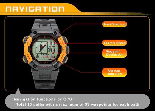 LAD WEATHER GPS watch