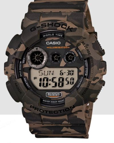 Casio120CM-5 Camo Digital only