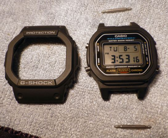 1) Remove the G-Shock case cover - using recessed side screws.