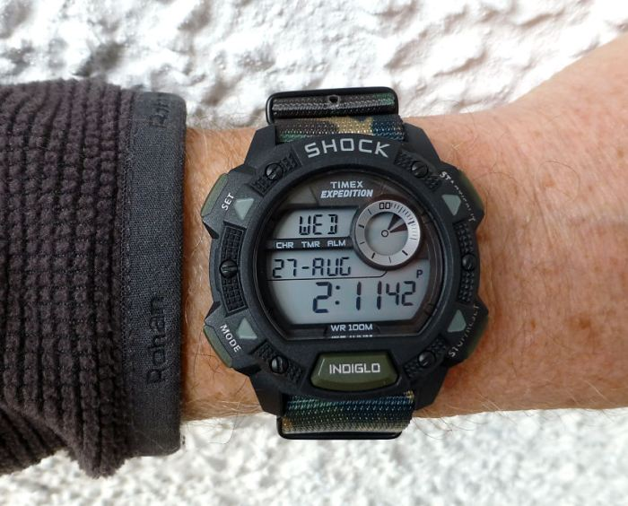 Timex Expedition T499676 with easy to fit Zuludiver camouflage NATO