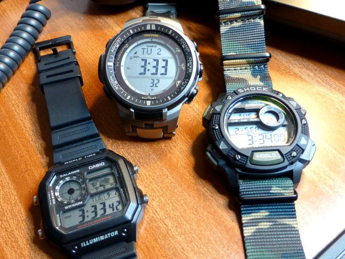 An outdoor selection from Casio and Timex.