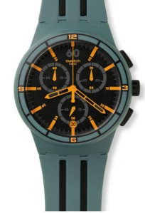 Swatch xxSpeed model Chronograph Date watch.