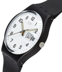 "Swatch ""Once Again"" model with White on Black."