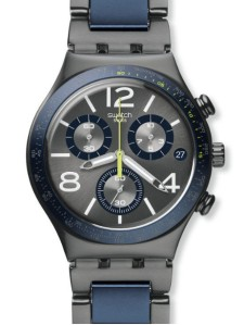 "Swatch ""Dr Swatson"" Chrono and Date model in Aluminium. Model: YCM006AG"