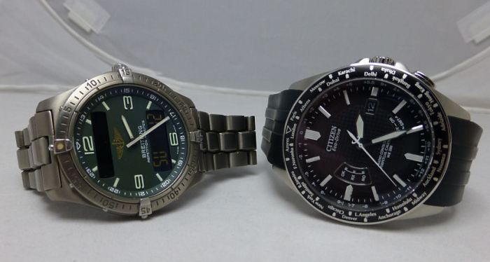 My Quartz favorites - The Breitling Aerospace and the Citizen AT World Time