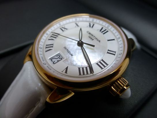 The Certina DS Podium with Mother-of-Pearl center dial