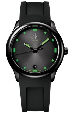 "CK Green ""Visible"" Watch K2V214DX Date watch"