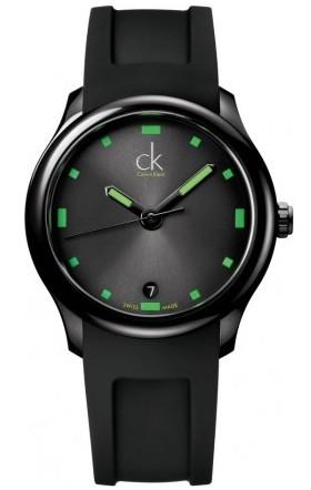 "CK Green ""Visible"" Watch K2V214DX Date watch"